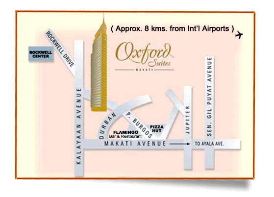 Oxford Suites Map
