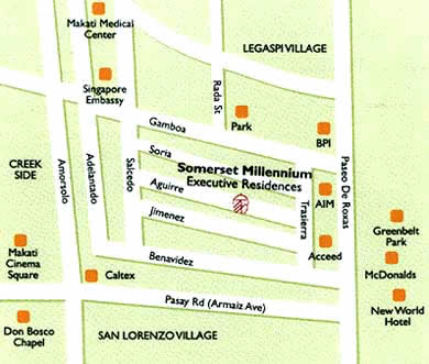 Somerset Millenium Makati Map