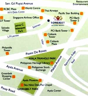 Somerset Salcedo Makati Map